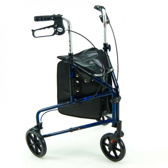 Lightweight Tri Wheeled Walker with Bag