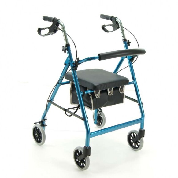 Folding Four wheel Aluminium Walker